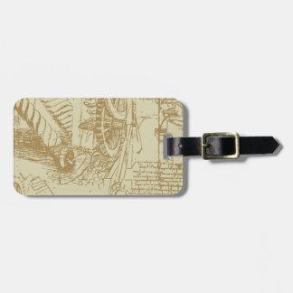 Leonardo Da Vinci Artwork Luggage Tag