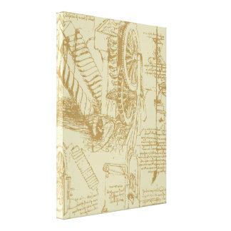 Leonardo Da Vinci Artwork Stretched Canvas Print