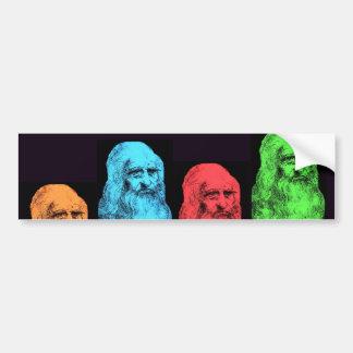 Leonardo Da Vinci Collage Bumper Sticker