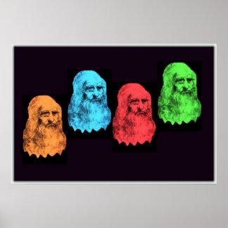 Leonardo Da Vinci Collage Poster