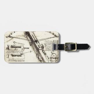 Leonardo da Vinci- Design for a Giant Crossbow Luggage Tag