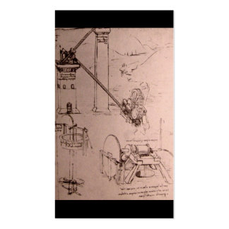 Leonardo da Vinci, drawings of machines Double-Sided Standard Business Cards (Pack Of 100)