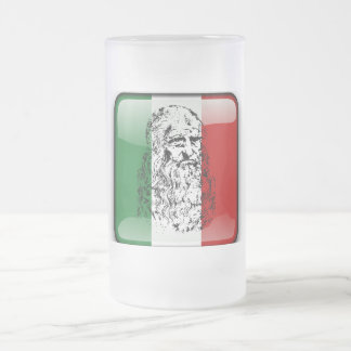 Leonardo da Vinci Frosted Glass Beer Mug