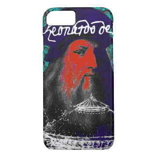Leonardo Da Vinci Genius Mixed Media Collage iPhone 8/7 Case