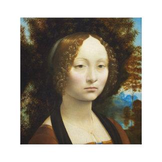 Leonardo da Vinci Ginevra de' Benci Canvas Print