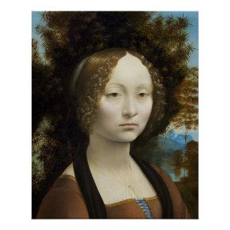 Leonardo Da Vinci Ginevra De' Benci Painting