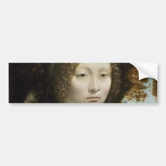 Leonardo Da Vinci Ginevra De' Benci Painting Bumper Sticker