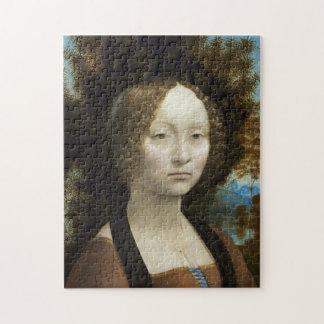 Leonardo Da Vinci Ginevra De' Benci Painting Jigsaw Puzzles