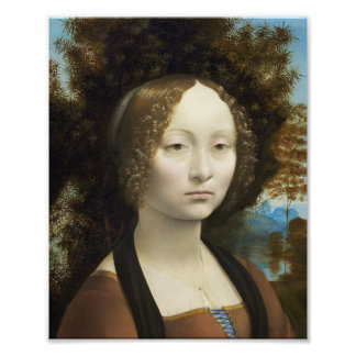Leonardo Da Vinci Ginevra De' Benci Painting Photographic Print