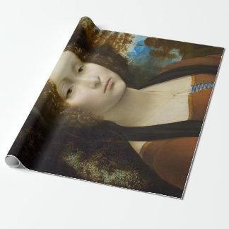 Leonardo da Vinci Ginevra de' Benci Wrapping Paper