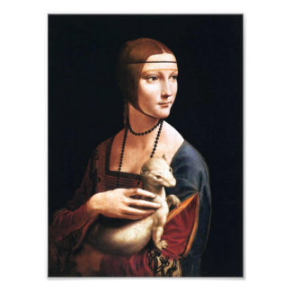Leonardo Da Vinci Lady with an Ermine Photo Print