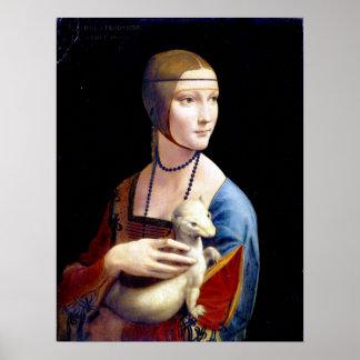 Leonardo da Vinci Lady with an Ermine Poster