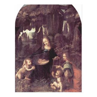 Leonardo da Vinci Madonna in der Felsengrotte, Sze Postcard