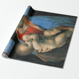 Leonardo da Vinci Madonna Litta Wrapping Paper