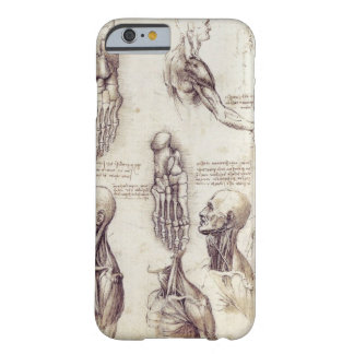 Leonardo Da Vinci Medical sketches, body parts Barely There iPhone 6 Case