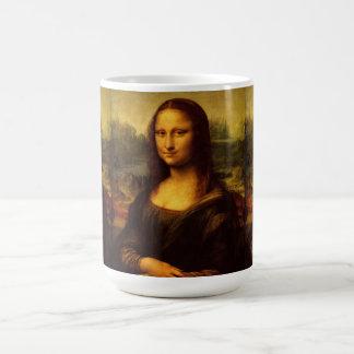 Leonardo Da Vinci Mona Lisa Fine Art Painting Basic White Mug