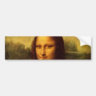 Leonardo Da Vinci Mona Lisa Fine Art Painting Bumper Sticker