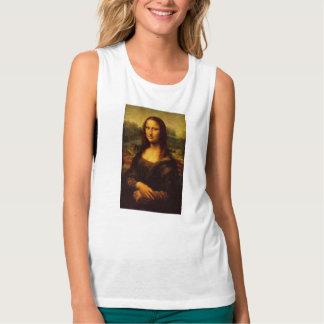 Leonardo Da Vinci Mona Lisa Fine Art Painting Flowy Muscle Tank Top