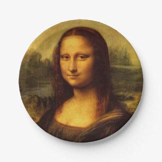 Leonardo Da Vinci Mona Lisa Fine Art Painting Paper Plate