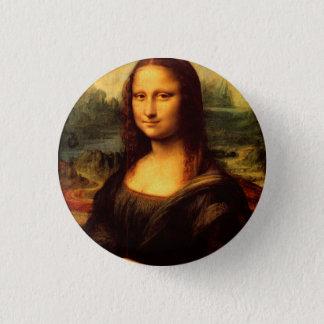 LEONARDO DA VINCI - Mona Lisa, La Gioconda 1503 3 Cm Round Badge