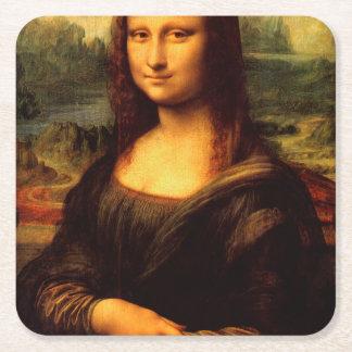 LEONARDO DA VINCI - Mona Lisa, La Gioconda 1503 Square Paper Coaster