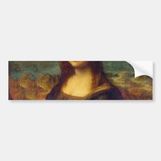 Leonardo da Vinci, Mona Lisa Painting Bumper Sticker
