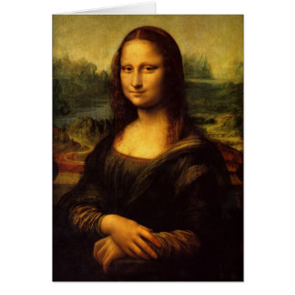 Leonardo da Vinci Mona Lisa Painting Greeting Card