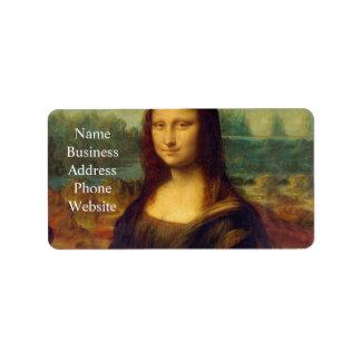 Leonardo da Vinci, Mona Lisa Painting Address Label