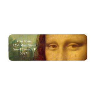 Leonardo da Vinci, Mona Lisa Painting Return Address Label