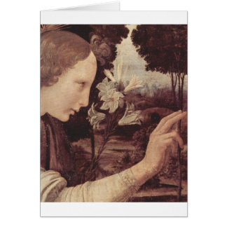 Leonardo Da Vinci Painting circa 1472-1475 Card
