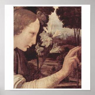 Leonardo Da Vinci Painting circa 1472-1475 Poster