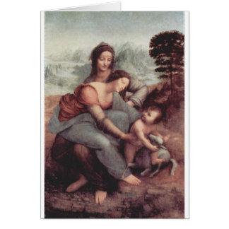 Leonardo Da Vinci Painting circa 1510 Card