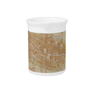 Leonardo da Vinci - Plan of Imola Painting Pitcher