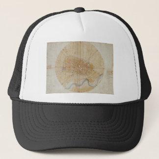 Leonardo da Vinci - Plan of Imola Painting Trucker Hat