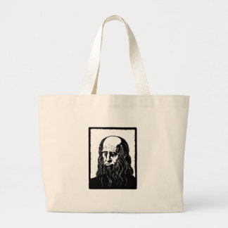 Leonardo da Vinci - portrait Large Tote Bag