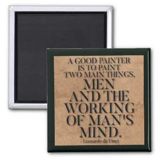 Leonardo Da Vinci Quote on Painting Magnet