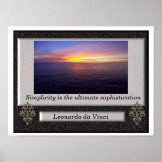 Leonardo da Vinci - quote poster