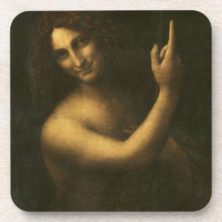 Leonardo da Vinci -Saint John the Baptist Painting Coaster