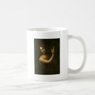 Leonardo da Vinci -Saint John the Baptist Painting Coffee Mug
