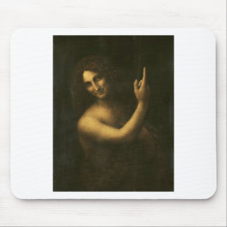 Leonardo da Vinci -Saint John the Baptist Painting Mouse Pad