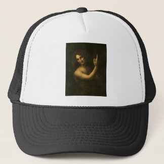 Leonardo da Vinci -Saint John the Baptist Painting Trucker Hat