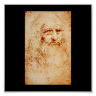 Leonardo Da Vinci Self-Portrait circa 1510-1515 Poster