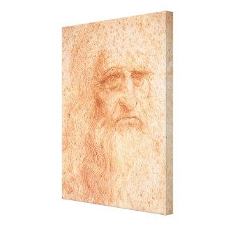 Leonardo da Vinci Self Portrait Red Chalk Canvas Print