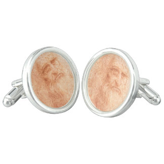 Leonardo da Vinci Self Portrait Red Chalk Cuff Links
