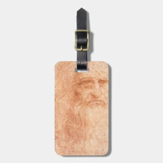 Leonardo da Vinci Self Portrait Red Chalk Luggage Tag
