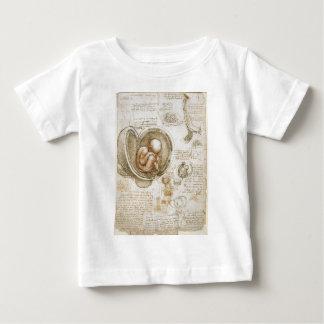 Leonardo da Vinci Studies of the Fetus in the Womb Baby T-Shirt