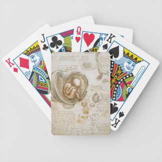 Leonardo da Vinci Studies of the Fetus in the Womb Bicycle Playing Cards