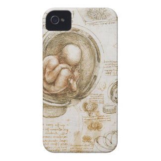 Leonardo da Vinci Studies of the Fetus in the Womb iPhone 4 Cover