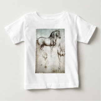 Leonardo da Vinci - Study of a Horse Baby T-Shirt