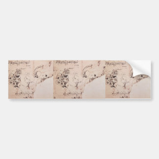 Leonardo da Vinci- Study sheet Bumper Sticker